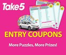 Enter Your Take 5 Entry Coupons Here