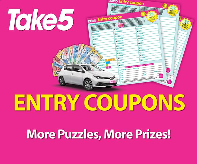 Take 5 Magazine online puzzle entry coupons