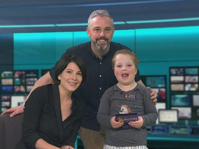 7-year-old cancer survivor asks news reader out for friend live on air