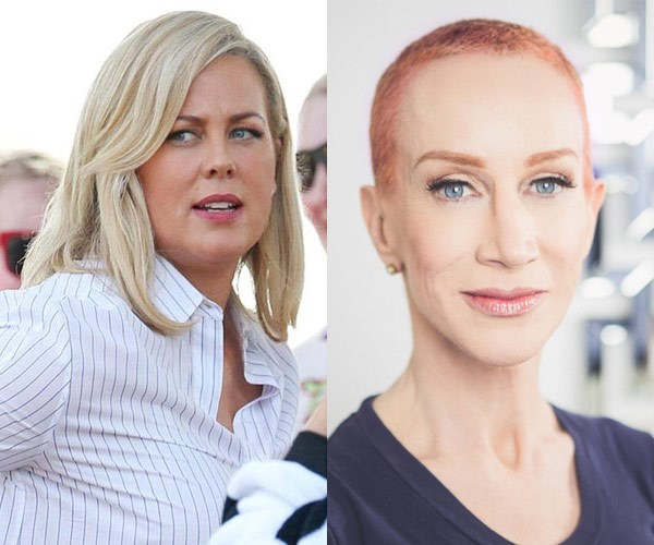 Samantha Armytage and Kathy Griffin