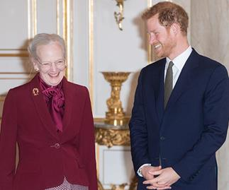 Prince Harry and Queen Margrethe