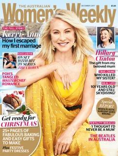 Kerri-Anne looking fabulous on the December cover of The Australian Women's Weekly.