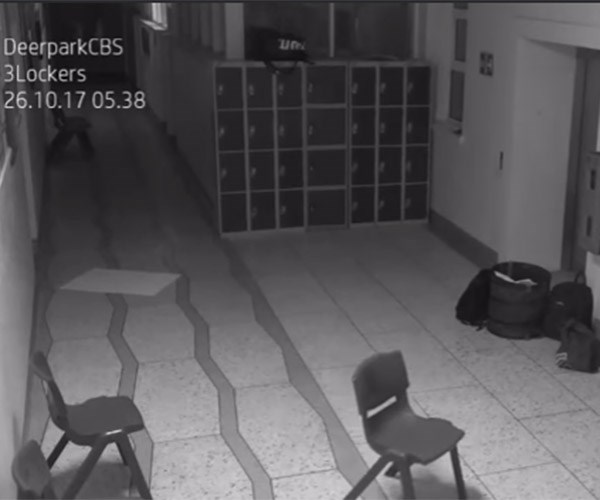 Ghost haunts Irish high school again