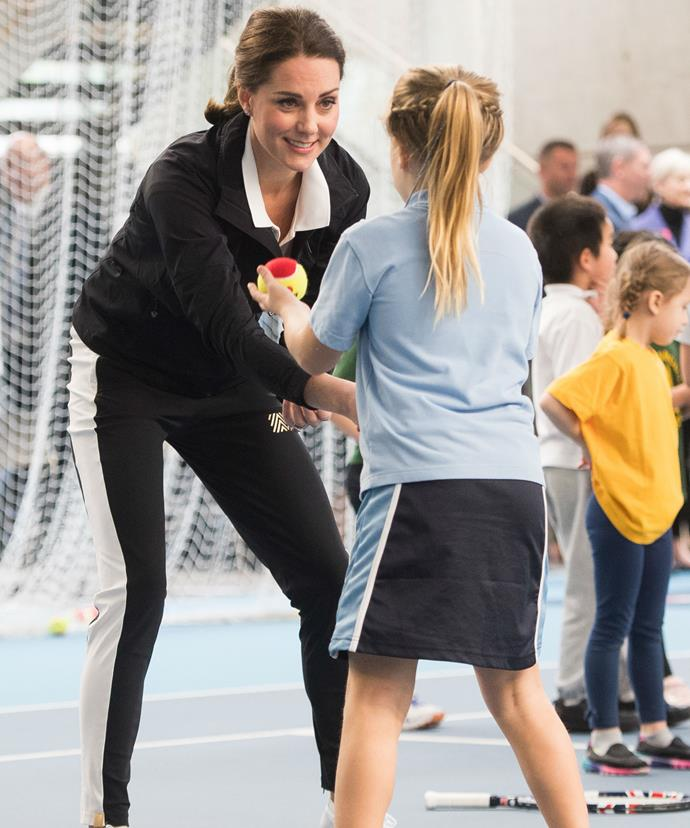And as an avid tennis player, the royal couldn't hide her impressive tennis skills!