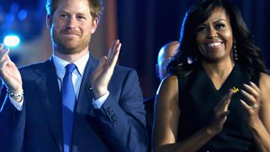 Roll call: Prince Harry and Michelle Obama give a Chicago High School the best surprise