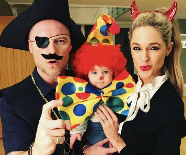 Ronan and Storm Keating, who welcomed their first child together -- a boy, named Cooper -- back in April, celebrated the spooky occasion in the sweetest way. Pirates, devils and clowns, oh my!
