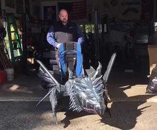 Father transforms son's wheelchair into the most EPIC Halloween costume