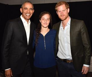 Prince Harry, Obama and Chantelle Stefanovic