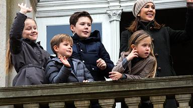 Hold onto those reins! Princess Mary and her children attend Hubertus hunt