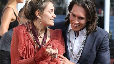 The way you make her feel! Paris Jackson hits it off with model Tyler Green at the Melbourne Cup