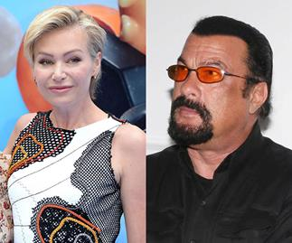 Portia de Rossi and Steven Seagal