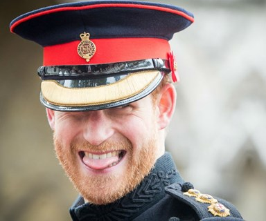 "Prince Harry jokes that he ""can't hide"" Meghan Markle at public events"