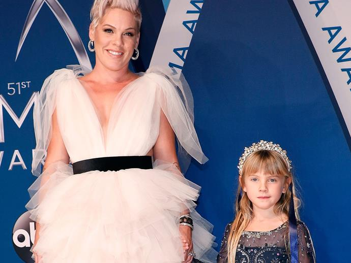 Pink and her daughter Willow attend the 2017 Country Music Awards