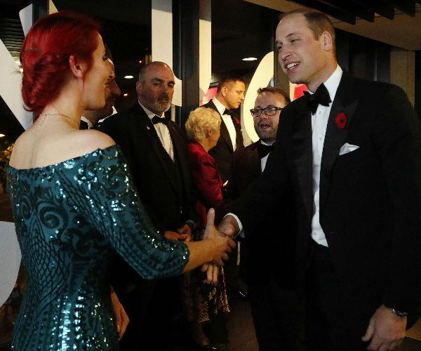 Prince William chatted and laughed with guests at the glittering event organised by the City Veterans' Network.
