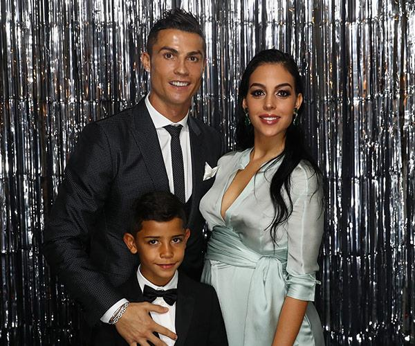 The sporting figure with Georgina and his seven-year-old Cristiano Ronaldo Jr.