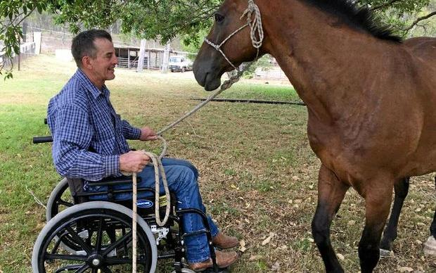 Real life story: How a paralysed rodeo star got back on his feet.