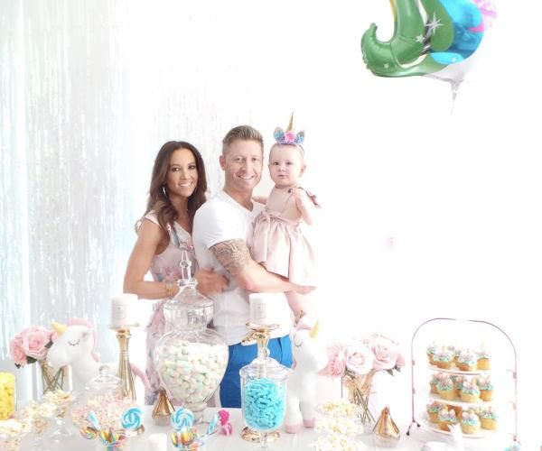 "Kyly captioned the lovely photos: ""What a spectacular day to celebrate our little Angels 2 years on this wonderful land. I absolutely love to make a fuss & spend time decorating to make her feel special…"""