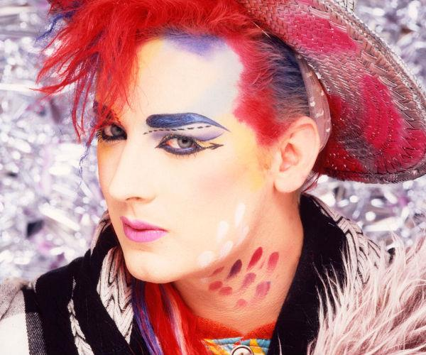 Boy George is known for his extravagant fashion style.