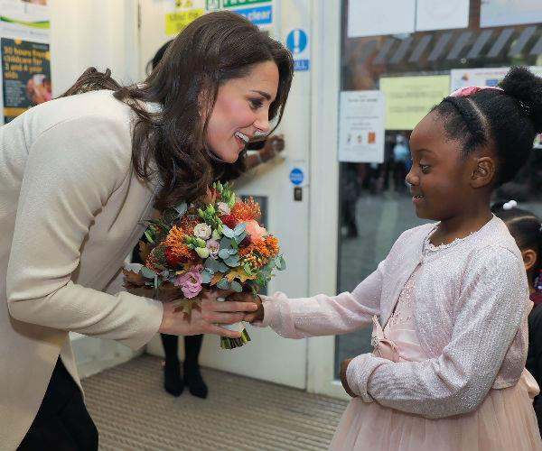 She also spent some one-on-one time with children involved in the centre's important work.