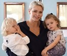 Princess Charlene shares adorable photos of her twins after their very first haircut