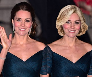 See how Duchess Catherine would look if she traded her brunette locks for something VERY different