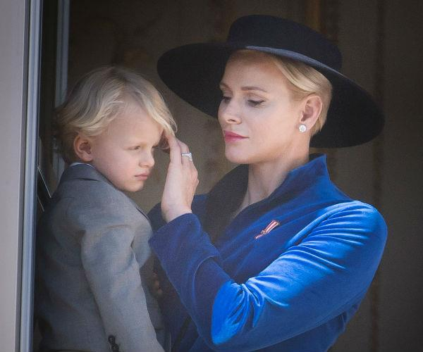 The royal was seen adorably fussing over her little one's new haircut.