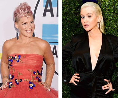 Guys, it's not 2001 and Pink's feud with Christina Aguilera isn't happening