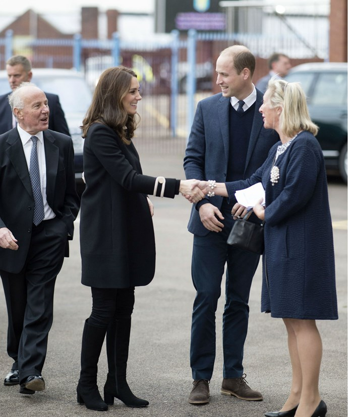 The royal duo began their jam-packed day with a visit to the Jaguar Land Rover's Solihull Manufacturing Plant.