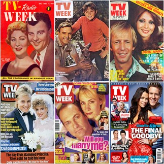 tv week magazine covers