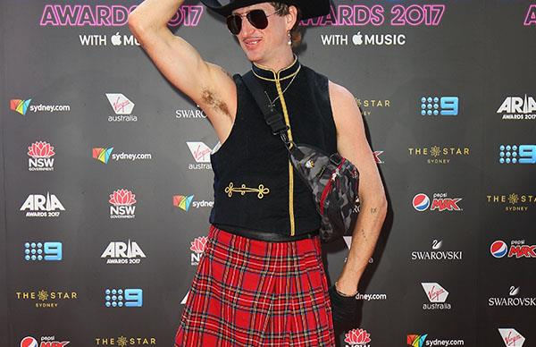 Sydney artist faces severe backlash after flashing his penis on ARIAs red carpet