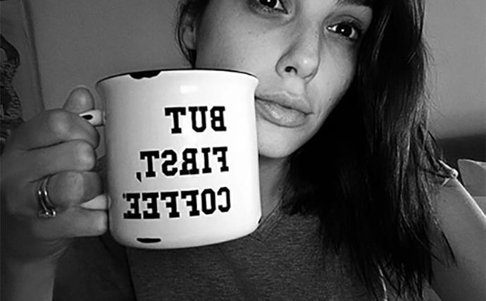gal gadot coffee