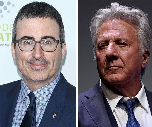 John Oliver confronts Dustin Hoffman over allegations