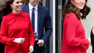 Bumping along beautifully! A pregnant Duchess Catherine positively glows in Manchester