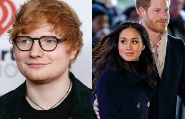 Ed Sheeran,  Prince Harry, Meghan Markle