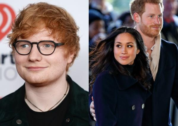 Ed Sheeran,  Prince Harry, Meghan Markle