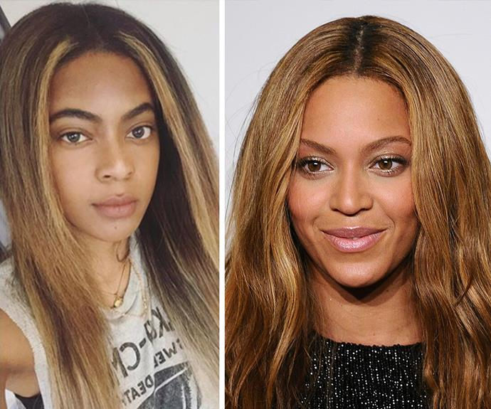 The Instagram beauty thinks she and Queen Bey might even be distantly related.