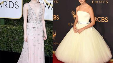 All the glitz and glamour of 2017's best red-carpet fashion moments
