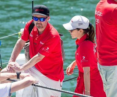 Welcome home! Princess Mary and Prince Frederik go sailing on Sydney Harbour