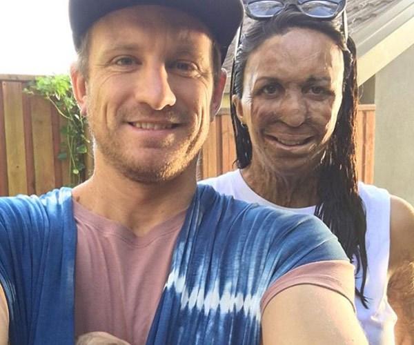 Turia Pitt and baby Hakavai