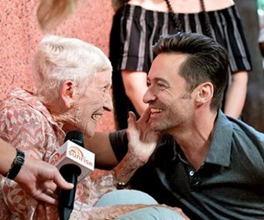 The Greatest Showman Hugh Jackman meets his greatest fan Nanna Mary