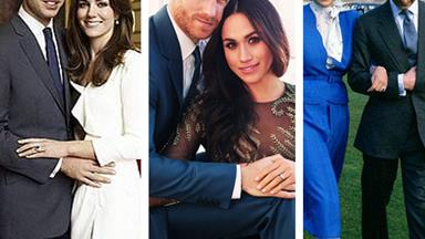 How does Meghan Markle and Prince Harry's engagement shoot compare to other royal couples?