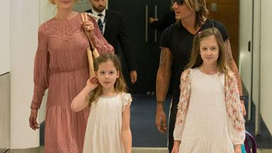 A very Aussie Christmas! Nicole Kidman, Keith Urban and their girls arrive in Sydney