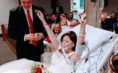 Woman dies of breast cancer hours after hospital wedding