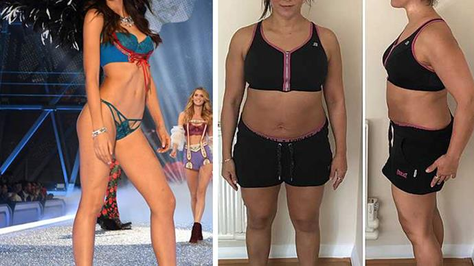 Can a normal mum get in shape like a Victoria's Secret model? We tried...