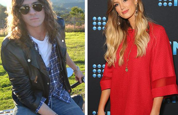 Delta Goodrem and Matthew Copley
