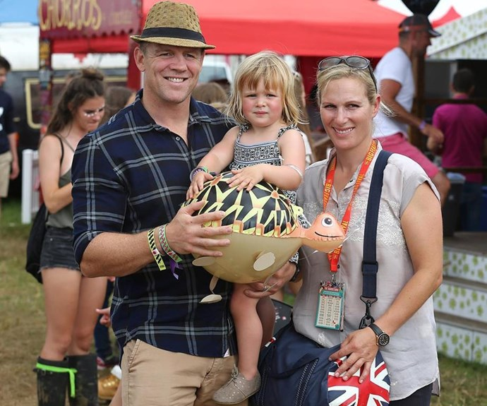 Mia Tindall is officially a big sister.