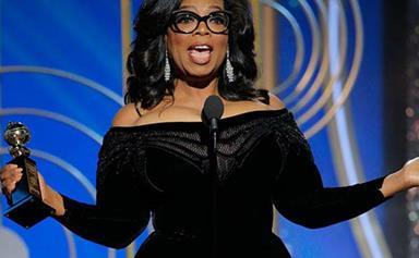 Oprah Winfrey goes peak Oprah when she accepts the Cecil B.DeMille Award