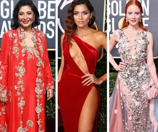 Why these women chose NOT to wear black to the 2018 Golden Globe Awards