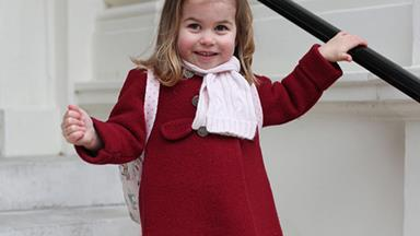 Queen of the classroom! Princess Charlotte is so grown up as she starts nursery school