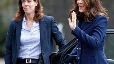 Flower Power: Duchess Kate dazzles during school visit